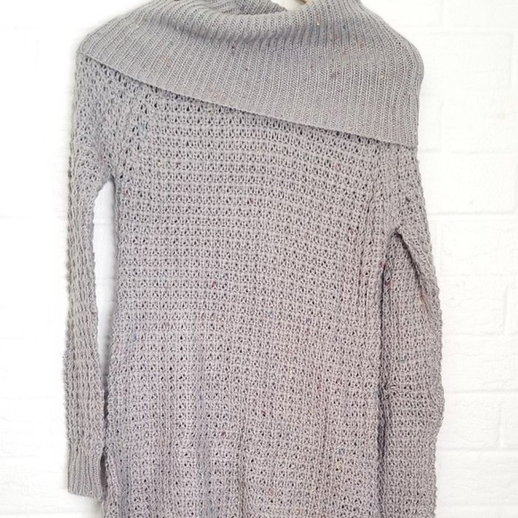 c06a5e94b9 Rue21 Gray Cowl Neck Speckled Tunic Sweater Small.  M 5b7c532b12cd4a2eb9e58e78